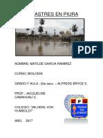 Desastres en Piura
