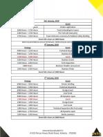 Esi 2018 Event Schedule