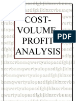 Cost Volume Profit Analysis Paper Presentation