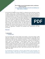 El Calor de Transferencia en Productos Alimenticios de Alta Viscosidad Por Un Flujo Caótico y Continuo.
