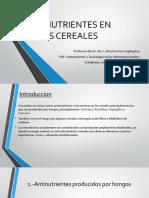 Antinutrientes en Los Cereales