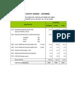 Costo Mano de Obra-Junio 2017-2018