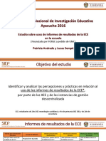 Estudios sobre uso de informes de resultados ECE en la escuela