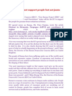 BDC+FBP +House of Peace and Nonviolence call for EU must support people but not junta