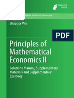 Shapoor Vali Principles of Mathematical Economics II Solutions Manual, Supplementary Materials and Supplementary Exercises