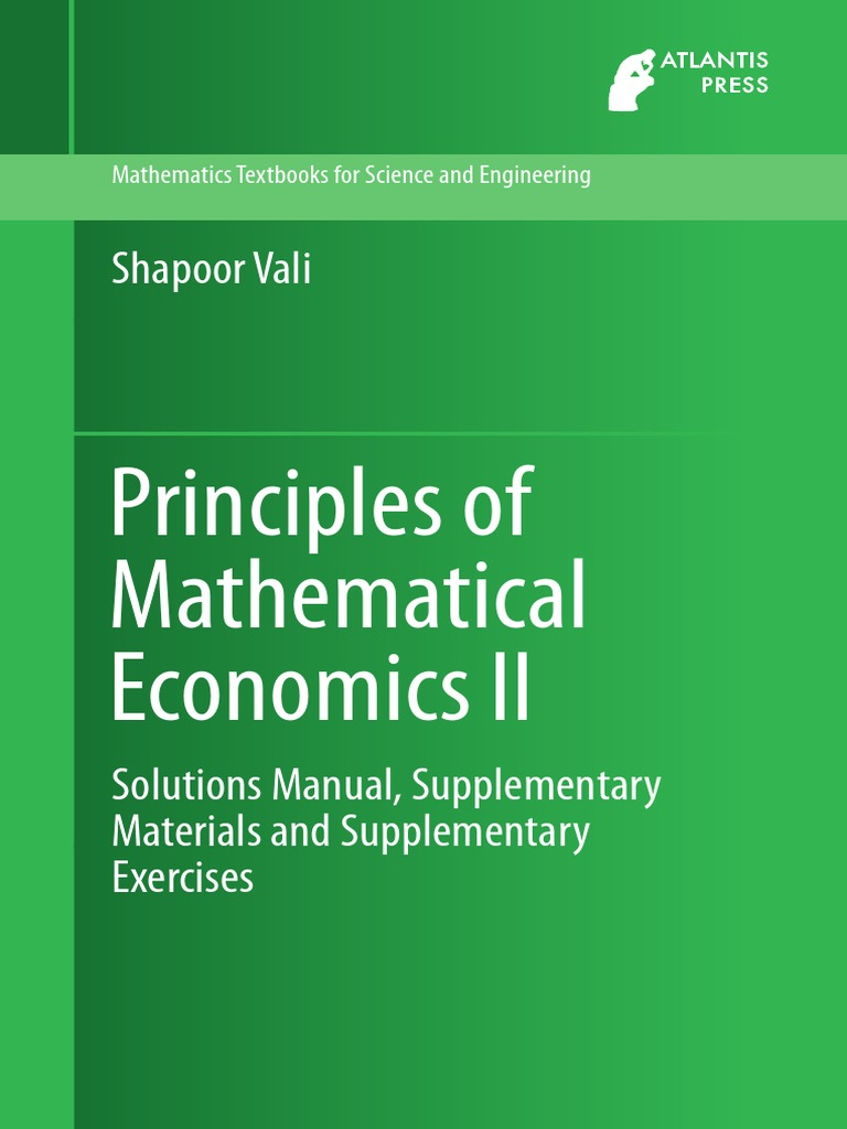 Shapoor vali principles of mathematical economics ii solutions shapoor vali principles of mathematical economics ii solutions manual supplementary materials and supplementary exercises income inflation fandeluxe