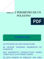 Perímetros y áreas de un poligono