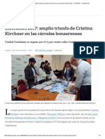 Elecciones 2017_ Amplio Triunfo de Cristina Kirchner en Las Cárceles Bonaerenses - 17.08