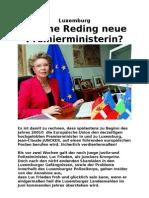 Luxemburg Viviane Reding Premierministerin
