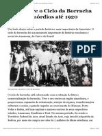Tudo sobre o Ciclo da Borracha – dos primórdios até 1920 | No Amazonas é Assim