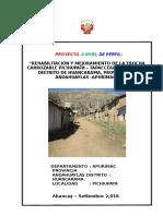 Ampliacion y Mejoramiento de La Carretera Huancarama Ultimo