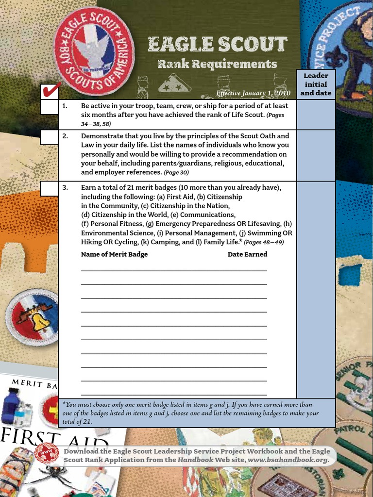 Workbooks eagle scout service project workbook : pages440-442 bshb09 eaglerrs | Youth Organizations | Scouting