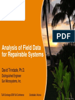 Analysis of Field Data for Repairable Systems