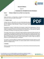 Proyecto Circular Adiciona Capitulo 3 Al Titulo 5 Transferencia Internacional de Datos
