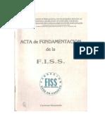 106662136 Acta de Fundamentacion de La FISS David Ferriz Olivares 1988 Caracas