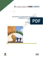 Plan Distrital Cambio Climatico Doc en Validacion