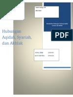 291516022-Hubungan-Aqidah-Akhlak-dan-Syariah.docx