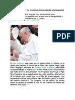 Extractos Evangelii Gaudium ElPais