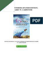 El Genio Interior Spanish Edition by Harry w Carpenter