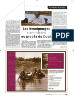 Les témoignages s'emmêlent au procès de Duch (chonique hebdomadaire - Cambodge Soir Hebdo)