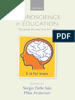 Neuroscience on Education