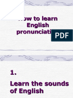How to Learn English Pronunciation