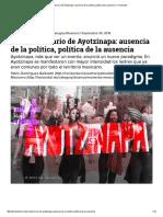 Animadversario de Ayotzinapa_ Ausencia de La Política, Política de La Ausencia – Horizontal