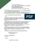 OMEN Nr 4619_2014 Metodologia Cadru de Organizare Si Functionare a Consiliului de Administratie Din Unitatile de Invatamant Preuniversitar