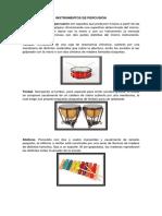 Instrumentos de Percusión