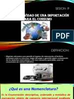 La operatividad de una importación para el consumo