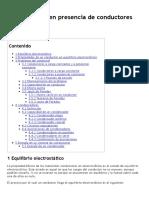 Electrostática en Presencia de Conductores (GIE)