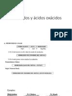 Hidróxidos y Ácidos Oxácidos