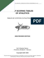 iaaf scoring table