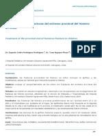 Tratamiento de Las Fracturas de Humero Proximal en Niños