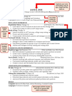 Annotated Resume Sample