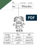 Ficha Femenimo Masulino