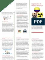 Folleto legislación riesgos quimicos