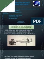 Evolución de Los Sistemas de Comunicación Inalámbrica