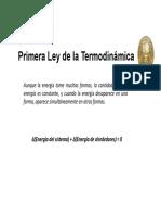 Primera Ley de La Termodinámica - Sistemas Cerrados