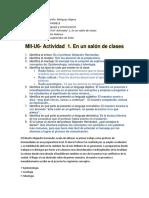 MII-U6- Actividad 1. en Un Salón de Clases