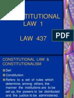 Topic 1 -Constitutions and Constitutionalism