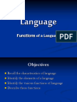 Functions of Language - Revised 2015