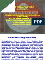 Presentation Ikbal Proposal Oke