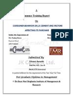 A Report on J.K. Cement ltd