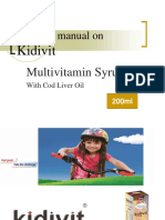 Training Manual on Kidivit 200ml