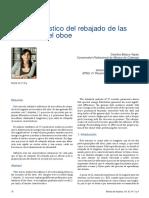 Carolina Blasco-Yepes - Estudio Acústico Del Rebajado de Las Lengüetas Del Oboe