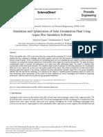 Simulation y Optimization of Solar