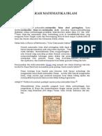 Sejarah Matematika Islam