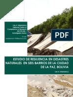 (BO) Resiliencia en Desastres Nat. en Seis Barrios de La Paz, Bolivia - Luis Salamanca