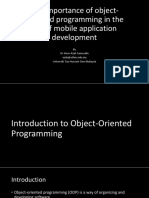The Importance of Object-Oriented Programming in the Era of Mobile Development